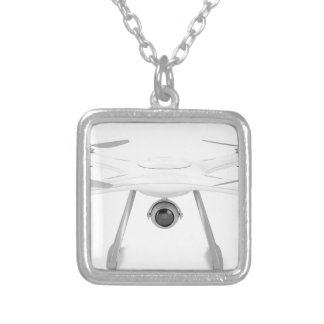 Drone Silver Plated Necklace