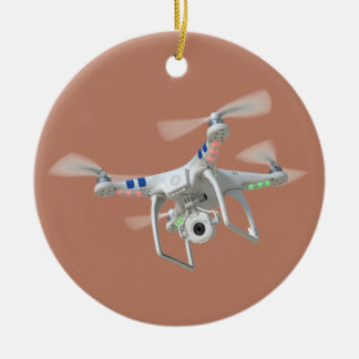 Drone white ceramic ornament