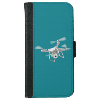 Drone white iPhone 6 wallet case