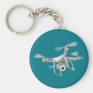 Drone white keychain