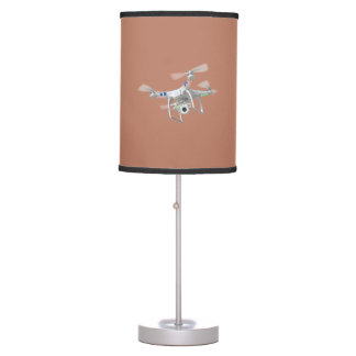 Drone white table lamp
