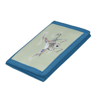 Drone white trifold wallets