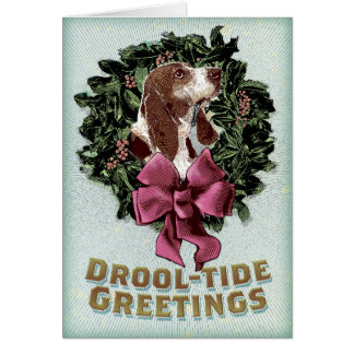 Drool-Tide Greetings holiday card