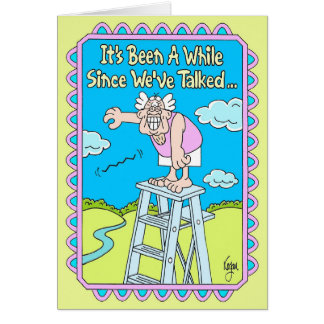 DROP A LINE Birthday Card