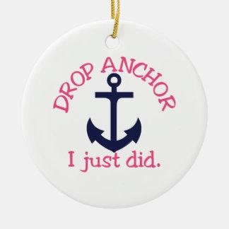 Drop Anchor Ceramic Ornament