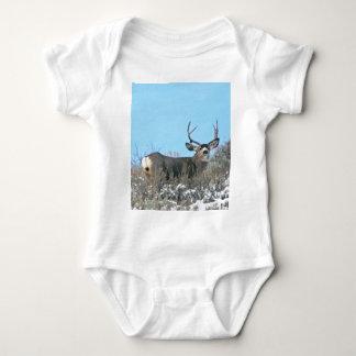 Drop antler buck baby bodysuit