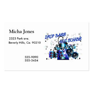 Drop Bass Not Bombs Business Card