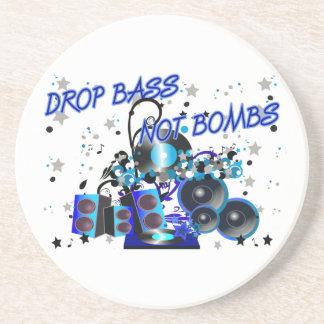 Drop Bass Not Bombs Coasters