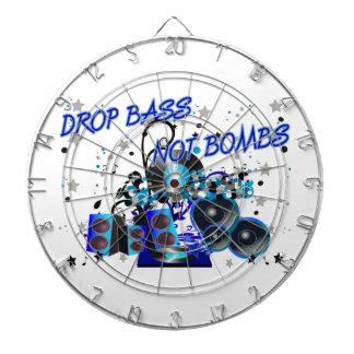 Drop Bass Not Bombs Dartboard With Darts