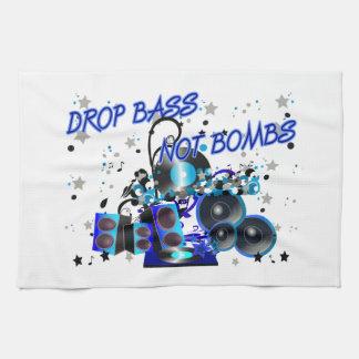 Drop Bass Not Bombs Hand Towel