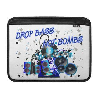 Drop Bass Not Bombs MacBook Air Sleeve