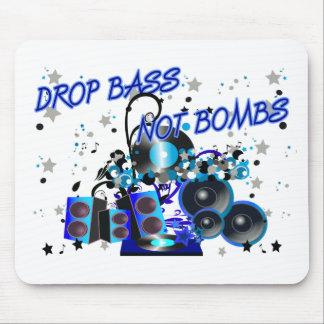 Drop Bass Not Bombs Mouse Pad