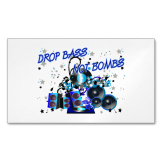 Drop Bass Not Bombs Music vs Violence Magnetic Business Card