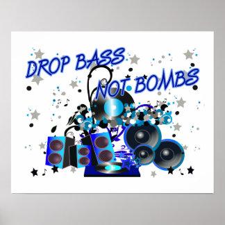 Drop Bass Not Bombs Poster