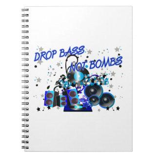 Drop Bass Not Bombs Spiral Note Books