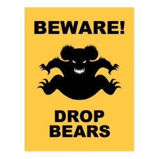Drop Bears! Postcard