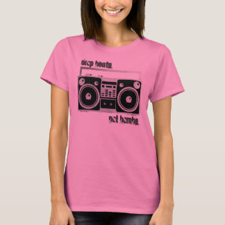 Drop beats not bombs boombox shirt