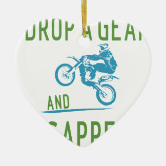 DROP GEAR CERAMIC HEART ORNAMENT