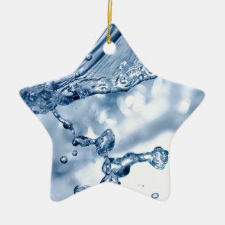 Drop In The Ocean Ceramic Star Ornament