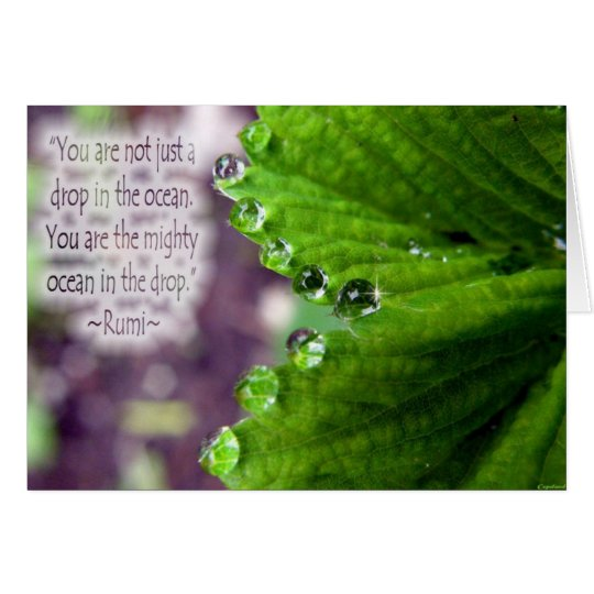 """Drop in the Ocean"" Rumi Greeting Card"