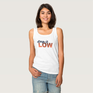 Drop It Low (Blue / Orange) Tank Top
