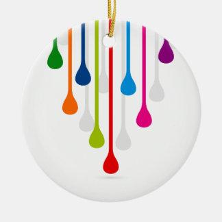 Drop Round Ceramic Ornament