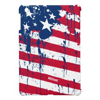 Drop Splash Colors America Flag iPad Mini Cases