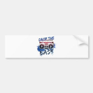 Drop the Bass Bumper Sticker