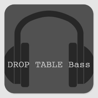Drop the Bass (Nerd) Square Sticker