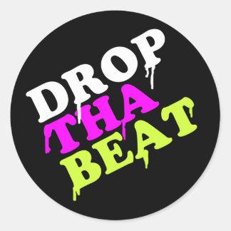 Drop The Beat Round Sticker