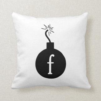 Drop the F Bomb Throw Pillow