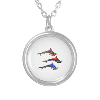 DROP THE HAMMERS SILVER PLATED NECKLACE