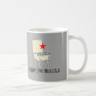 Drop The Needle Retro Grey Mug
