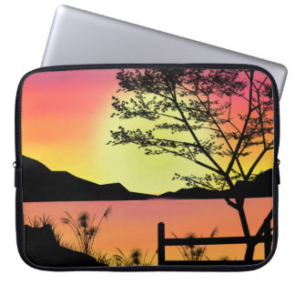 Drop top Sunset on your Laptop Computer Sleeve