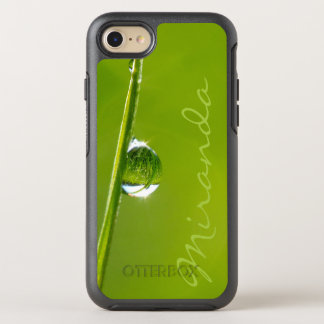 Droplet - w. Name - OtterBox Symmetry iPhone 7 Case
