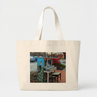 Dropping by for a Ditty in Dublin Large Tote Bag
