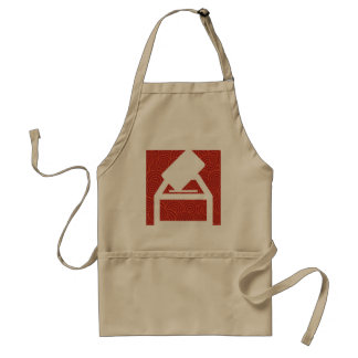 Dropping Inserts Pictograph Standard Apron