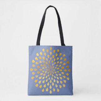 Drops of Gold Sparkles Mandala All Over Print Bag
