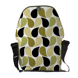 Drops Pattern custom messenger bag