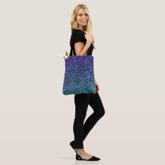 Drops - Purple turquoise ombre pattern Tote Bag