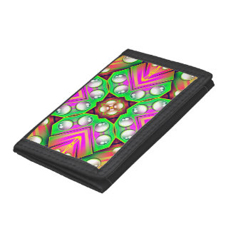 Drops Water On A Colorful Abstract Background Trifold Wallets