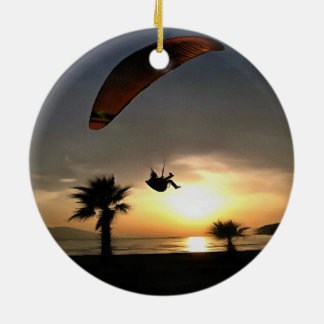 Dropzone At Dusk Ceramic Ornament