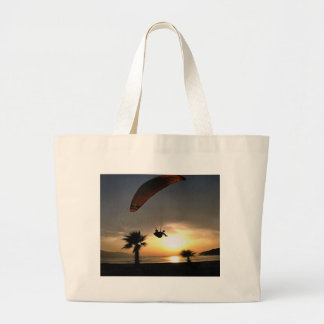 Dropzone At Dusk Large Tote Bag