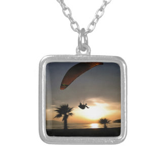 Dropzone At Dusk Silver Plated Necklace