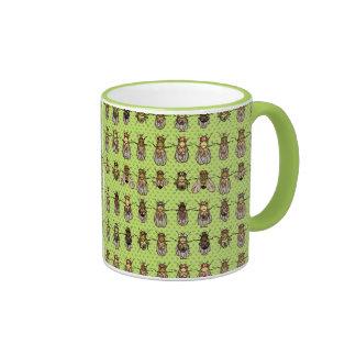 Drosophila Fruit Fly Genetics - mutants - Lime Ringer Coffee Mug