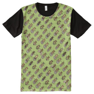 Drosophila Lime Green All-Over-Print T-Shirt