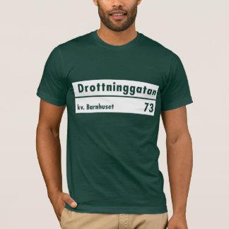 Drottninggatan, Stockholm, Swedish Street Sign T-Shirt