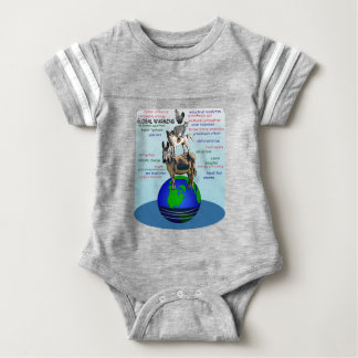 Drowning earth, sea level rise,global warming baby bodysuit