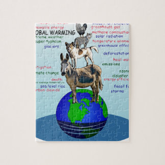 Drowning earth, sea level rise,global warming jigsaw puzzle