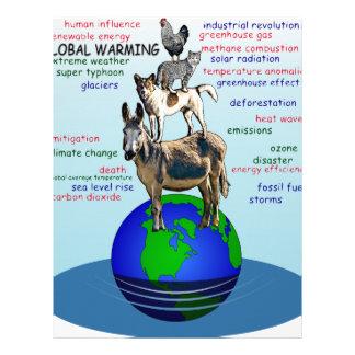 Drowning earth, sea level rise,global warming letterhead